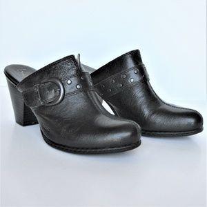 Born B.O.C Women's Black Leather Clog - Size 8